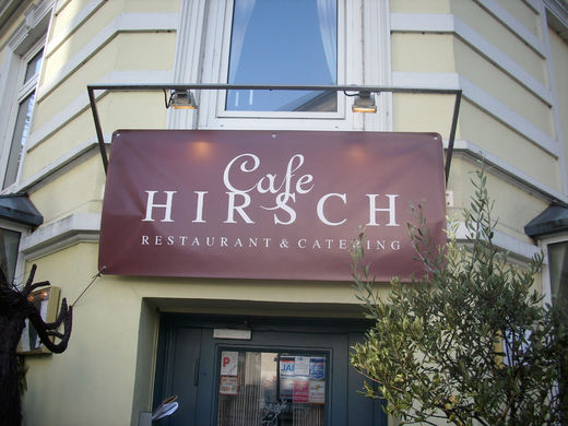 eingang cafe hirsch winterhude foto im hamburg web. Black Bedroom Furniture Sets. Home Design Ideas
