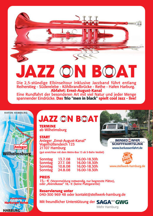 Jazz on boat 2008 - Live-Jazz durch Hamburgs Hafen