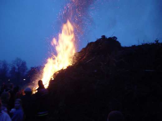 Start Osterfeuer Ohlstedt