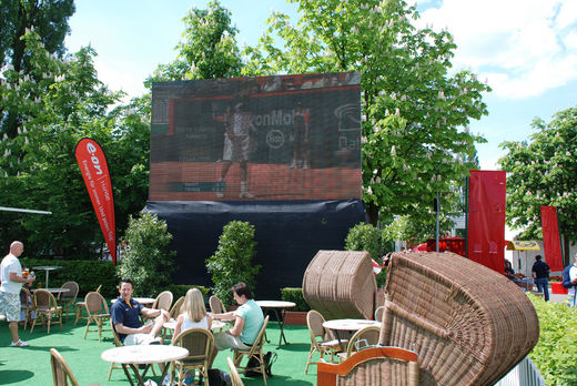 Videowall am Rothenbaum