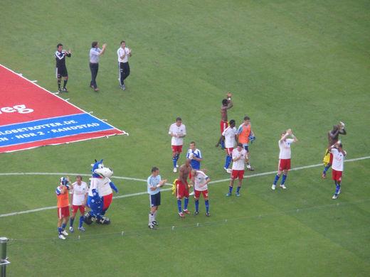 Kurzpassspiel und Schusstraining nach dem Maribor-Spiel