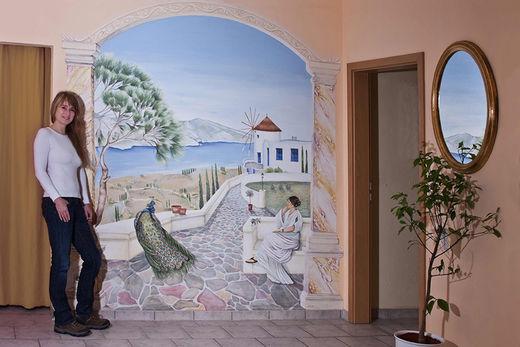Wandmalerei hamburg raumgestaltung illusionsmalerei foto im - Wandmalerei berlin ...
