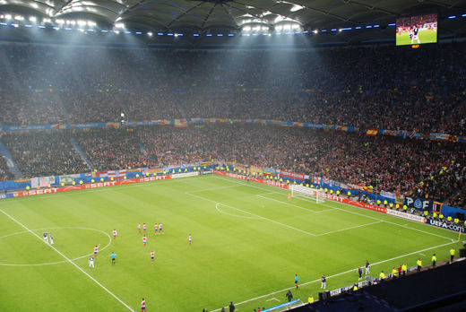 Nordtribüne in Hamburg beim Europa League Finale 2010