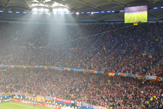 Atletico Madrid Anhänger in Hamburg