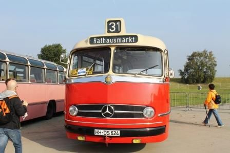 Front eines Museumsbuses