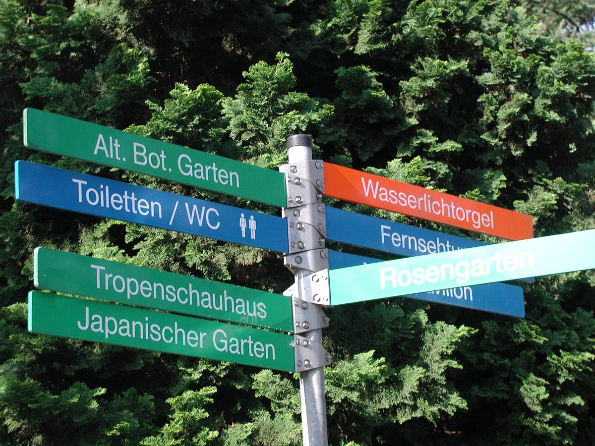Wegweiser Im Park Foto Im Hamburg Web