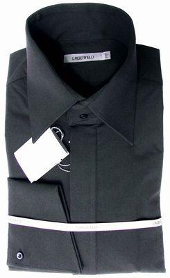 lagerfeld hemd mit schr ger manschette und hohem kragen. Black Bedroom Furniture Sets. Home Design Ideas