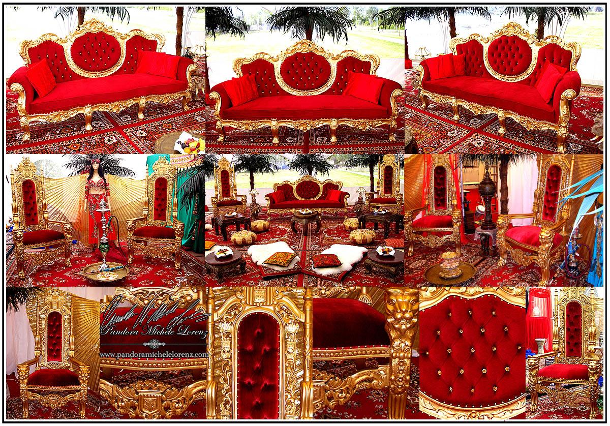 Orientalische Indische Asiatische Luxus Dekorationen Palast Möbel