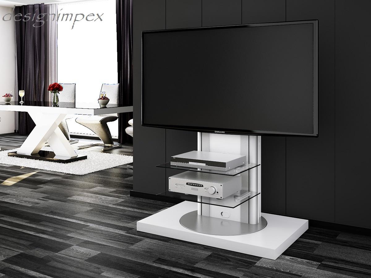 Fernsehtisch H 777 Weiß Hochglanz 360 Drehbar Tv Möbel Tv Rack Lcd