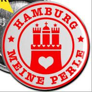 "Button ""Hamburg meine Perle"""