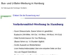 Buswerbung in Hamburg