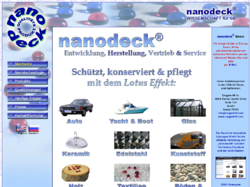 Lotus Effekt mit Nanotechnologie