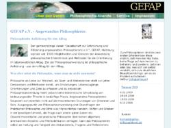 GEFAP e.V.  Gesellschaft zur Erforschung und Förderung angewandten Philosophierens