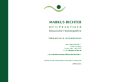Klassische Homöopathie  Markus Richter (HP)