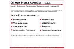Dr. med. Dieter Haarhaus