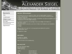 Dipl.-Ing. Alexander Siegel - Sachverständiger für Schäden an Gebäuden