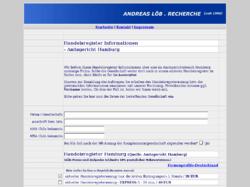 Handelsregister Hamburg - ein Service von Andreas Löb Recherche