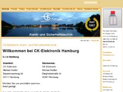 CK-Elektronik Alarmtechnik und Sicherheitstechnik