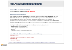 Infos zur Heilpraktiker Zusatzversicherung