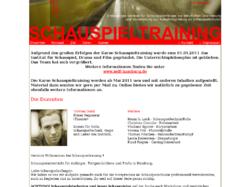 Schauspieltraining Schauspielkurse und Workshops