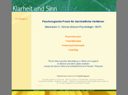 Psychotherapie, Körperarbeit, Coaching