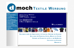Dmoch Textile Werbung