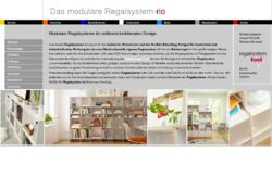 Flexibles modulares erweiterbares Regalsystem