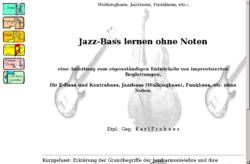 Jazz-Bass lernen ohne Noten