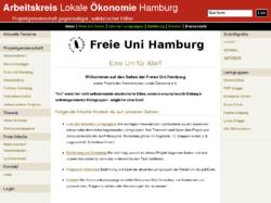 Freie Uni Hamburg - ein Projekt des Arbeitskreises Lokale Ökonomie e.V.