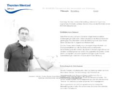 Zahnarzt Thorsten Wentzel
