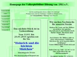 """Volksspielbühne """"Hüsung"""" von 1911 e.V."""