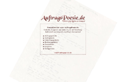 AuftragsPoesie.de - Gedichte, Songtexte und andere Lyrik auf Bestellung