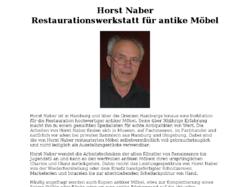 Restaurator für antike Möbel in Hamburg, Horst Naber