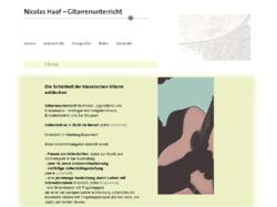 Gitarrenunterricht - Nicolas Haaf