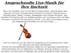 Livemusik zur Hochzeit aus Hamburg