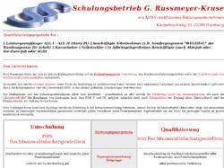 Schulungsbetrieb G. Russmeyer-Kruse