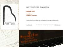 Institut für Pianistik,  Gabriele Wulff