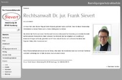 Dr. jur. Frank Sievert