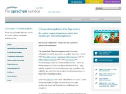 Übersetzungsbüro Fix Sprachen Hamburg