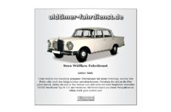 Oldtimer Fahrdienst (Mietwagen-Service)