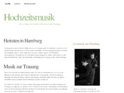 Live Musik zur Hochzeit und Trauung in Hamburg