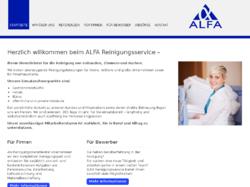 Alfa Reinigungsservice Zeitarbeit Dienstleistungen
