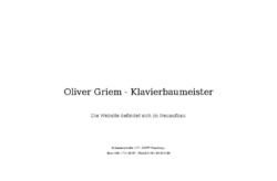 Oliver Griem Klavierbaumeister