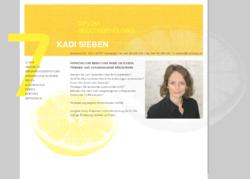 Diplom Oecotrophologin Kadi Sieben