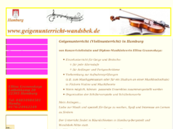 Qualifizierter Geigenunterricht bei Konzertgeigerin in Hamburg