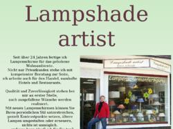 Lampshade artist, Werkstatt für Lampenschirme