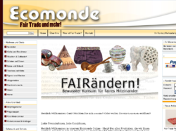 Ecomonde - Der Fair Trade Shop im Internet