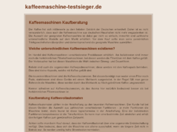 Kaffeemaschine Test