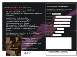 Klavierunterricht in Hamburg - individuell und professionell