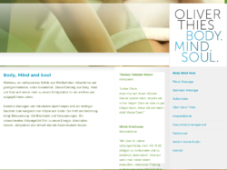 Oliver Thies-Body Mind Soul, Massage u. Sporttherapie